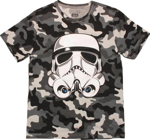 Star Wars Trooper Snow Camo T Shirt