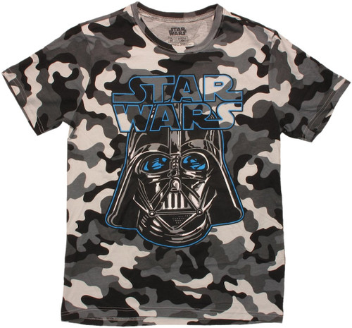 Star Wars Vader Snow Camo T Shirt