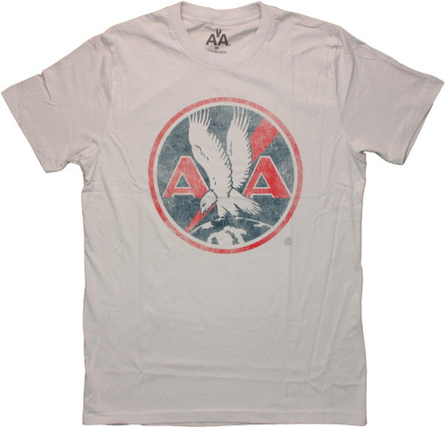 American Airlines Vintage Logo Gray T Shirt