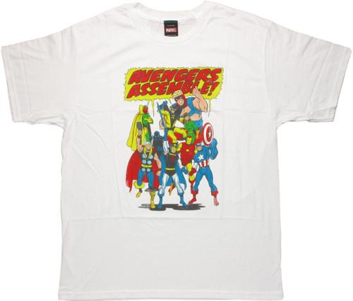 Avengers Assemble Shout Bubble T Shirt