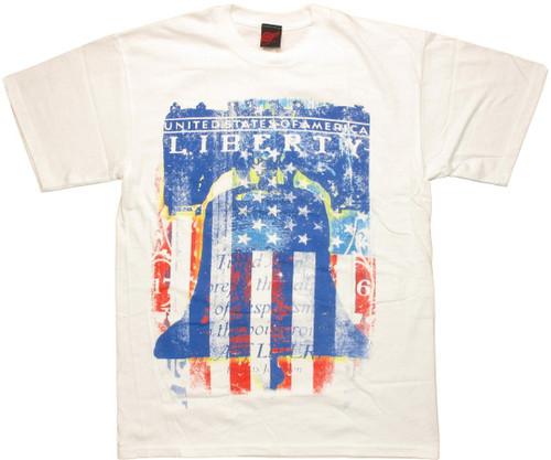Flag Liberty Bell Vintage T Shirt