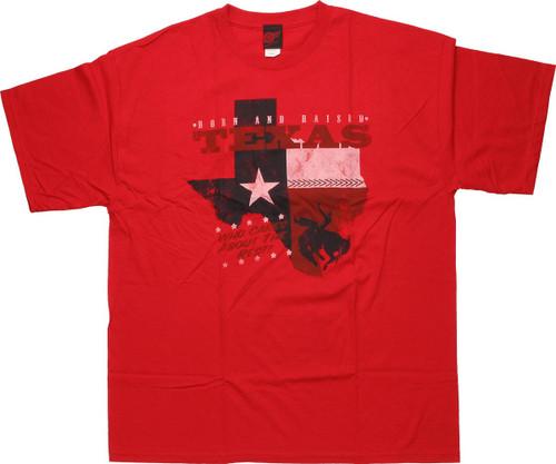 Flag Texas Born and Raised T Shirt