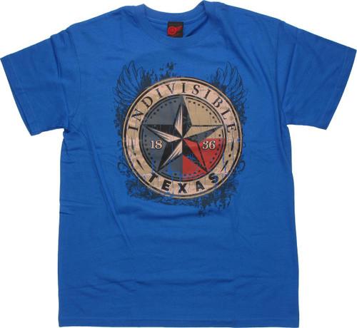 Flag Texas Indivisible T Shirt
