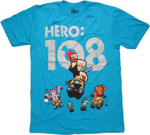 Hero 108 Traveling Chung Blue T Shirt