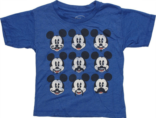 Mickey Mouse Mustaches Grid Toddler T Shirt