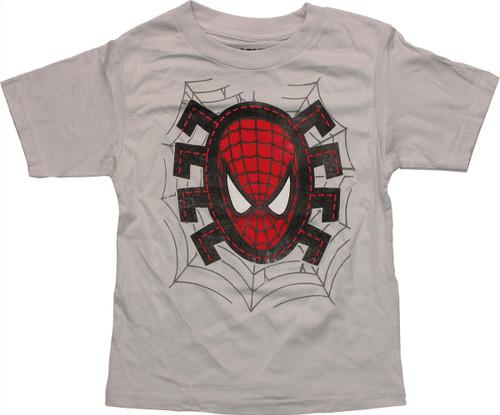 Spiderman Head Stitches HD Toddler T Shirt