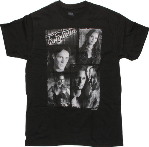 True Blood Fangtasia Vampire Collage T Shirt
