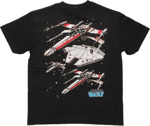 Star Wars Pixel Ships Youth T Shirt