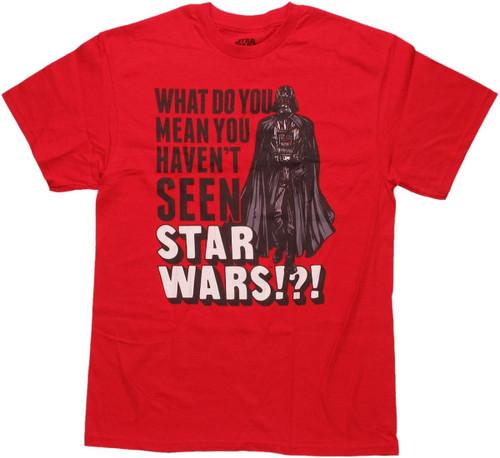 Star Wars Not Seen T Shirt