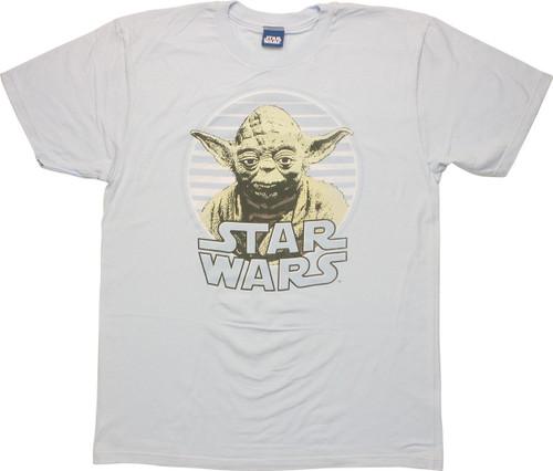 Star Wars Yoda Circle T Shirt Sheer