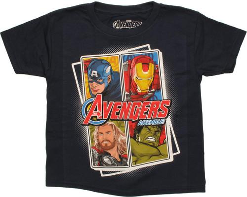 Avengers Assemble Offset Juvenile T Shirt