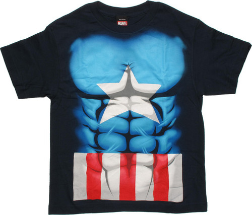 56ef818bc803 Captain America Midnight Abs Youth T Shirt