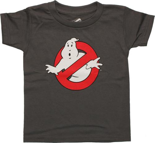 0d9c55d6 Ghostbusters Classic Logo Gray Toddler T Shirt