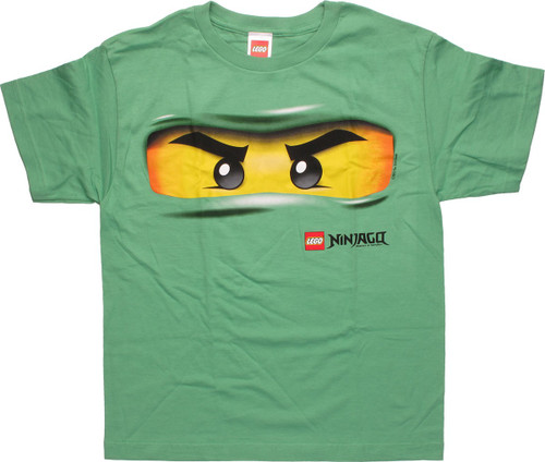 Lego Ninjago Lloyd Eyes Green Youth T Shirt