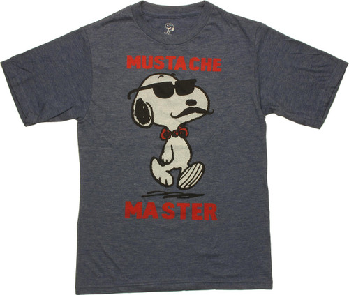 Peanuts Snoopy Mustache Master Youth T Shirt