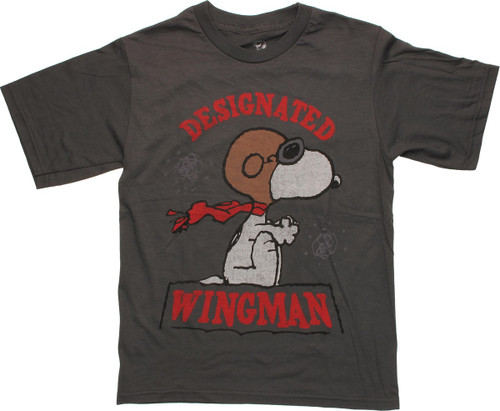 9ce919a24 Peanuts Snoopy Wingman Gray Youth T Shirt
