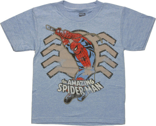 Spiderman Swing Over Spider Juvenile T Shirt