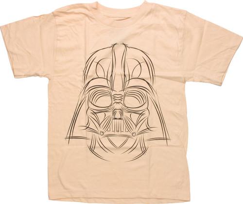 Star Wars Darth Sketch Beige Youth T Shirt