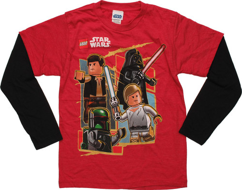 Star Wars Lego Good vs Evil Long Sleeve Juvenile T Shirt