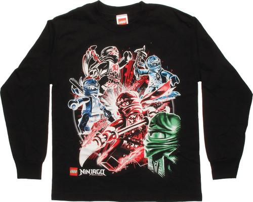 Lego Ninjago Ninja Blast Long Sleeve Youth T Shirt
