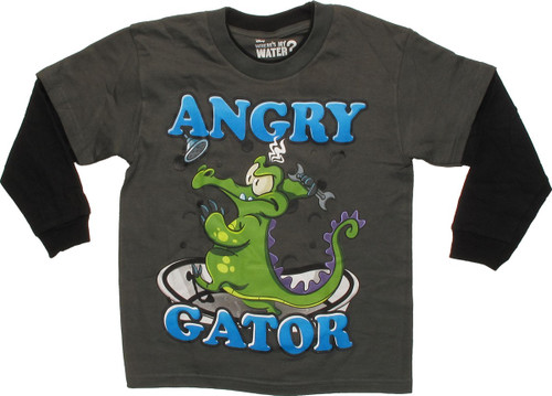 Where's My Water Mad Gator Long Sleeve Juvenile T Shirt