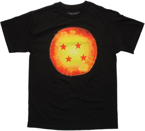 Dragon Ball Z Four Star Ball Black T Shirt