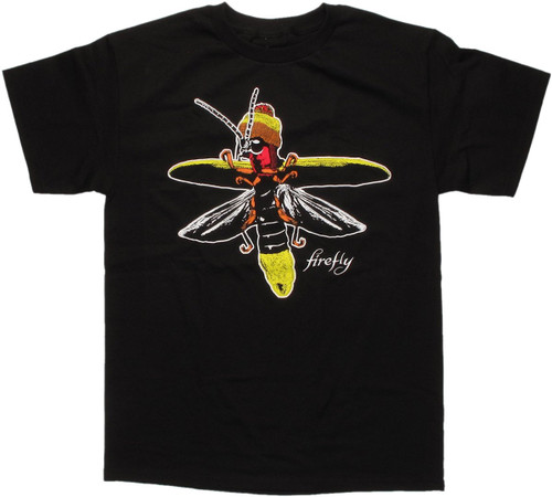 Firefly Bug Wearing Jayne Hat T Shirt
