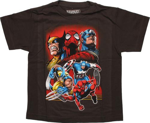 Avengers Double Pose Trio Juvenile T Shirt