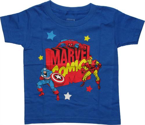 Avengers Marvel Comics Trio Toddler T Shirt