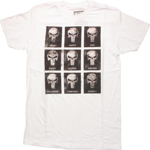 Punisher Emotion Skulls T Shirt Sheer