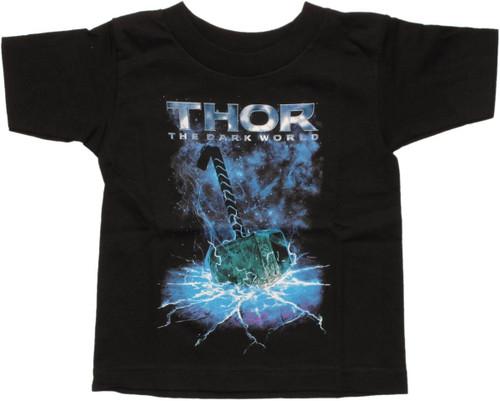 Thor Dark World Hammer Toddler T Shirt