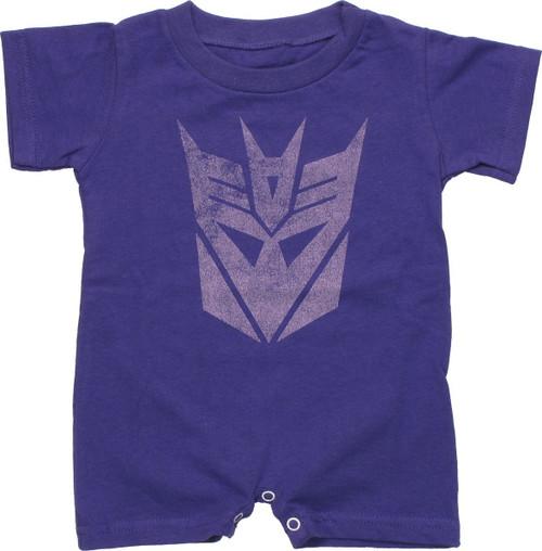 Transformers Decepticon Vintage Romper Snap Suit