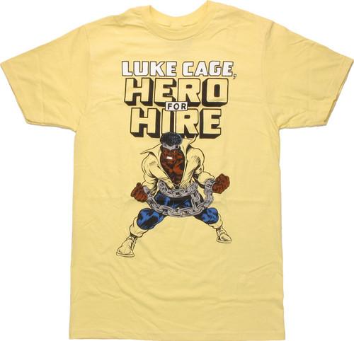 Luke Cage Hero For Hire T Shirt Sheer