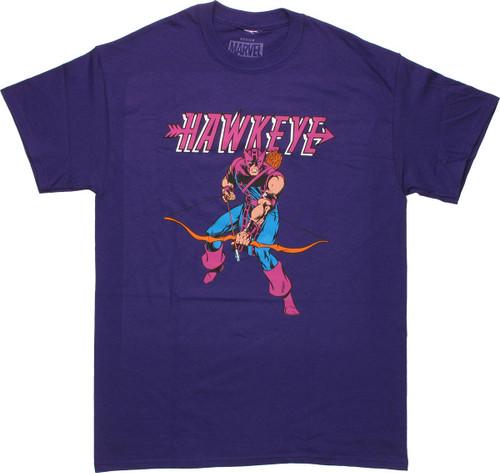 Hawkeye Name Purple T Shirt