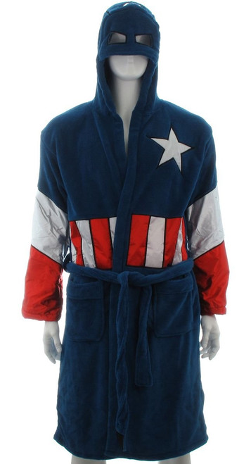 ae23e2d196 Captain America Hooded Fleece Robe