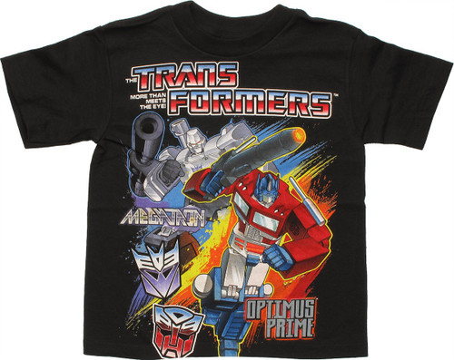 Transformers Megatron Optimus Prime Juvenile T Shirt