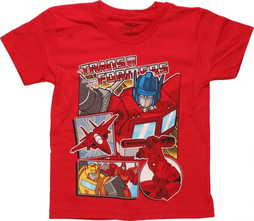 Transformers Comic Panels Juvenile T Shirt