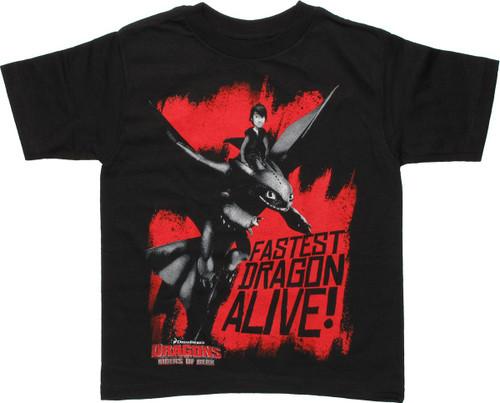 Dragons Riders of Berk Fastest Juvenile T Shirt