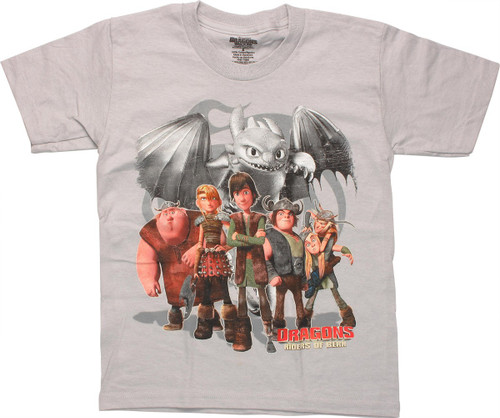 Dragons Riders of Berk Cast Youth T Shirt