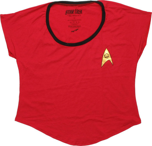 Star Trek Uhura Foil Insignia Ladies Tee