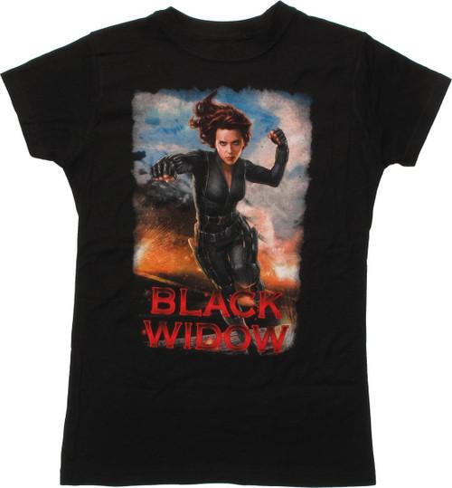 Black Widow Movie Punch Baby Tee
