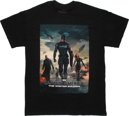 Captain America Winter Soldier Poster T Shirt