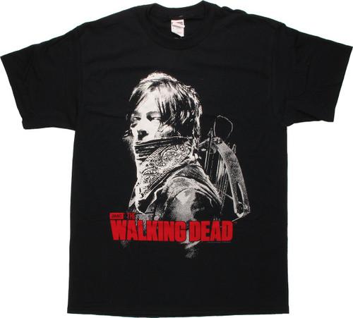 Walking Dead Daryl Bandana T Shirt