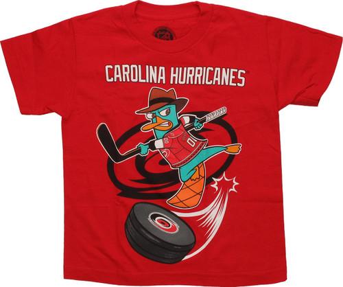 Phineas and Ferb Carolina Hurricanes Swoosh Juvenile T Shirt ac3c7b81f83