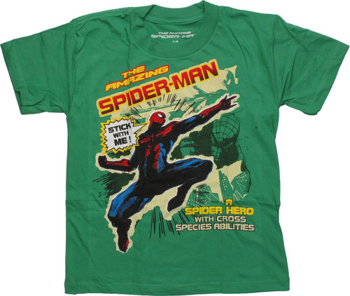 Spiderman Stick With Me Juvenile T Shirt