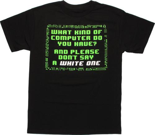 Big Bang Theory What Computer T Shirt