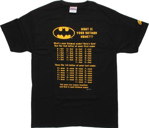 Batman Your Batman Name T Shirt