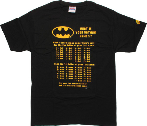 Batman Your Batman Name T Shirt