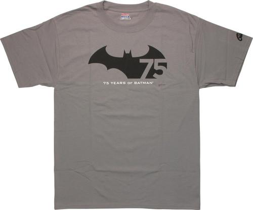 Batman 75 Years Logo T Shirt