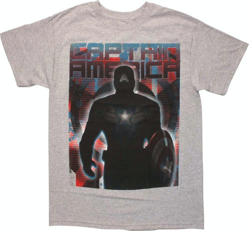 Captain America Soldier Shadows T Shirt